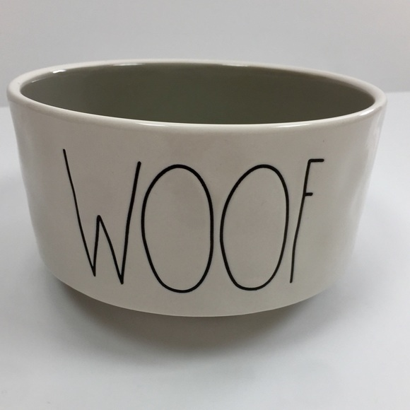 Rae Dunn Other - Rae Dunn Ceramic WOOF Dog Bowl 6""